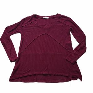 It's Our Time Burgundy Long Sleeve Sz M
